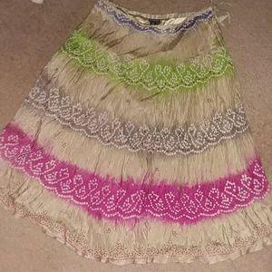 Beautiful Silk embellished maxi skirt